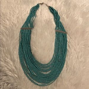 Turquoise necklace with gold beads! Love!